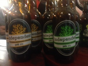 The initial offerings of a Gold Ale & Pale Ale from Independent Brewing Co