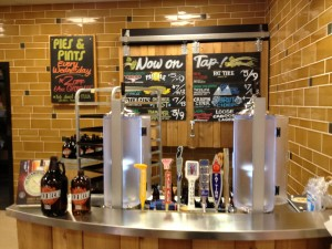 The growler station in Whole Foods focussed on local beers on draft