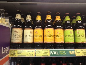 O'Hara's is regularly seen in supermarkets around Ireland
