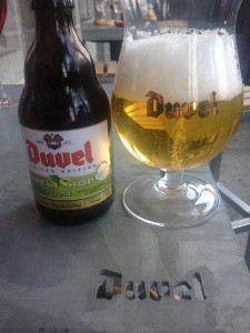 "Sensory overload with Duvel Tripel Hop in a ""ballon"""