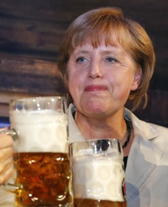 German Chancellor Angela Merkel not happy with the ECB and taking the glass-half-full approach Photo: REUTERS/Fabrizio Bensch