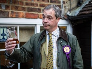 "Nigel Farage of UKIP and ""pint-op"" fame lost his election bid and can look forward to more beers in Brussels and Strasbourg"