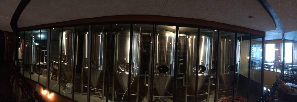 The 15 BBL brewery is on the 2nd floor so it's not just a clever name. Wonder if there's a penthouse brewery out there?