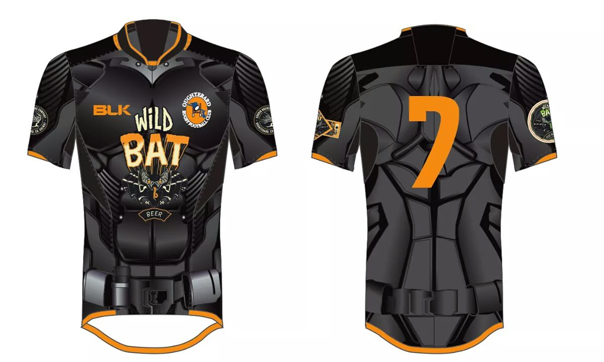 Wild Bat taking it one step further with this limited edition Oughterard RFC jersey
