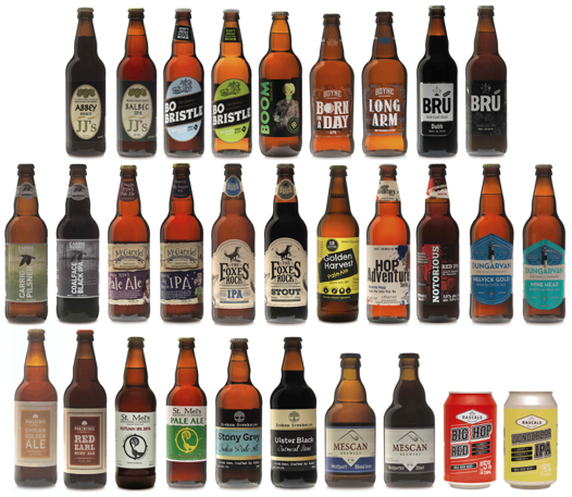 The Aldi Irish Craft beer Festival line-up. Prices range from €2.49 to €2.99